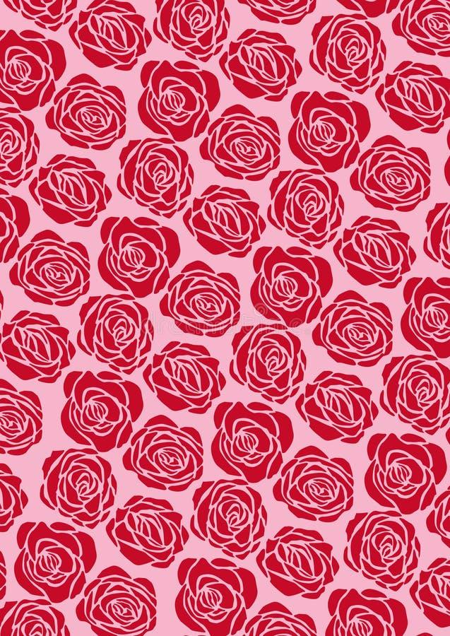 rood nam behang toe vector illustratie