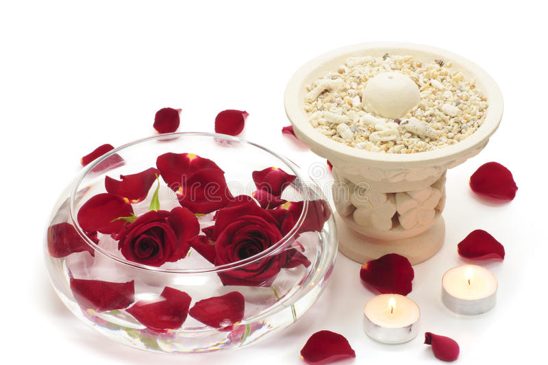 Rood nam en aromatherapy toe royalty-vrije stock afbeelding