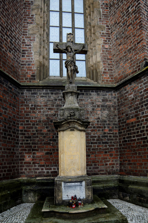 Rood. A rood near a church in Hradec Kralove royalty free stock image