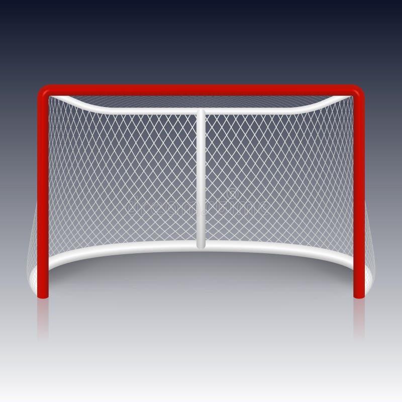 Rood netto hockeydoel, royalty-vrije illustratie