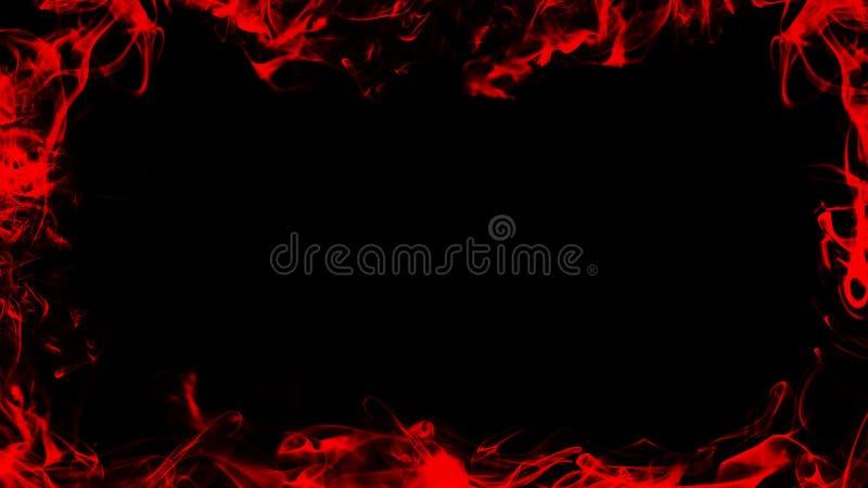 Rood nevelig de textuureffect van de kaderrook voor film, tekst of ruimte Grenstextuur stock illustratie