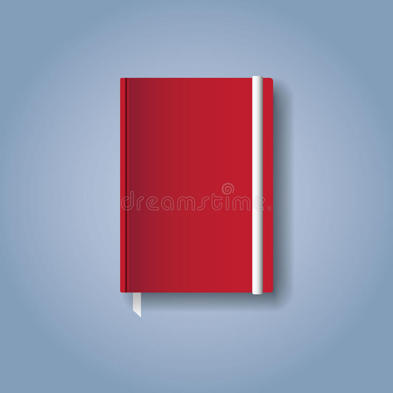 Rood notitieboekje vector illustratie