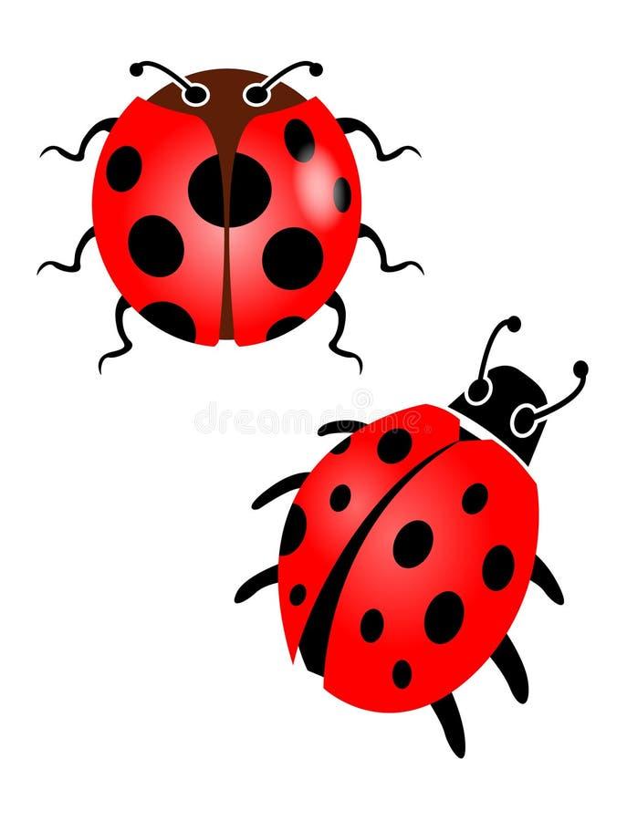 Rood onzelieveheersbeestje stock illustratie