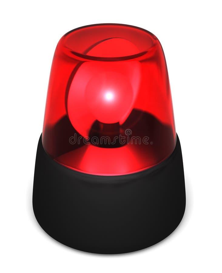 Rood Opvlammend Licht Stock Afbeelding