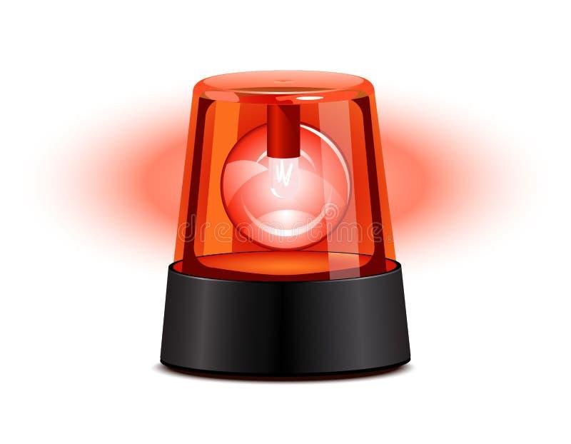 Rood opvlammend licht stock illustratie