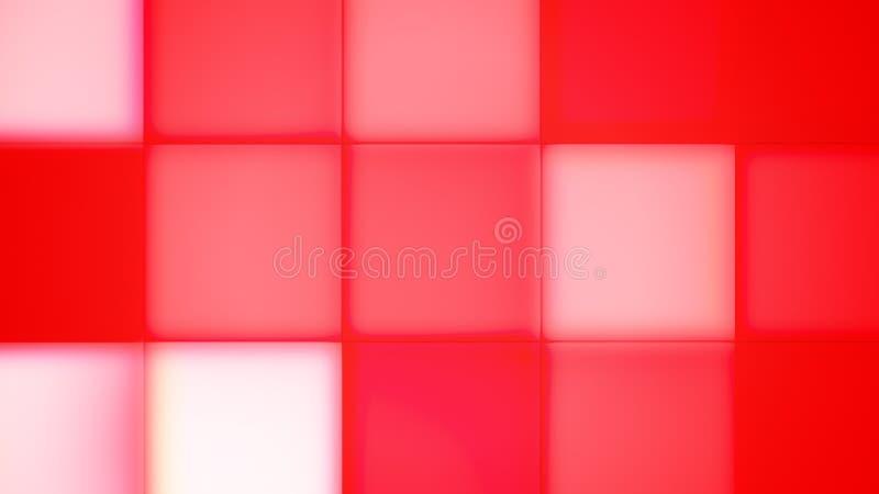Rood, Pantone en Roze Geleide Knopen vector illustratie