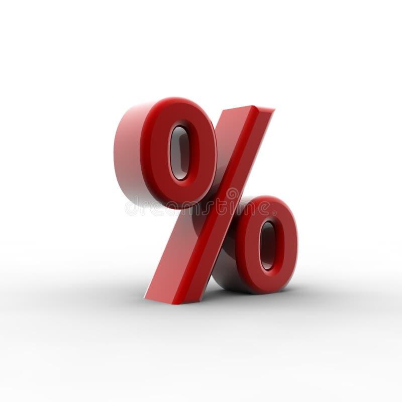 Rood percentage vector illustratie