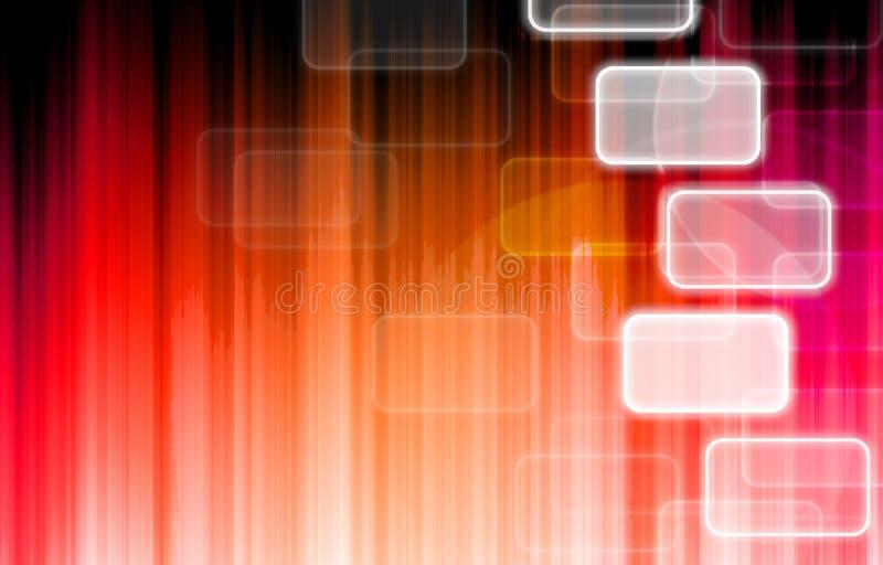 Rood pictogram op technologieachtergrond. vector illustratie