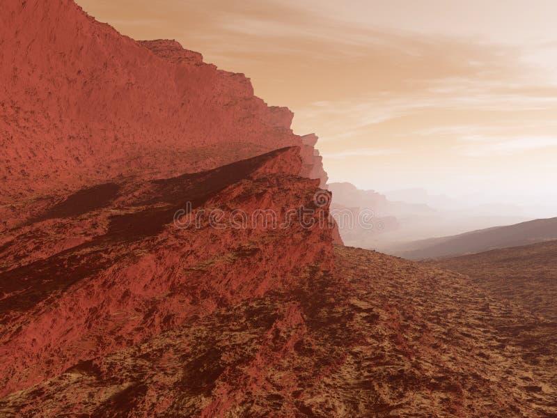 Rood planeetlandschap stock illustratie