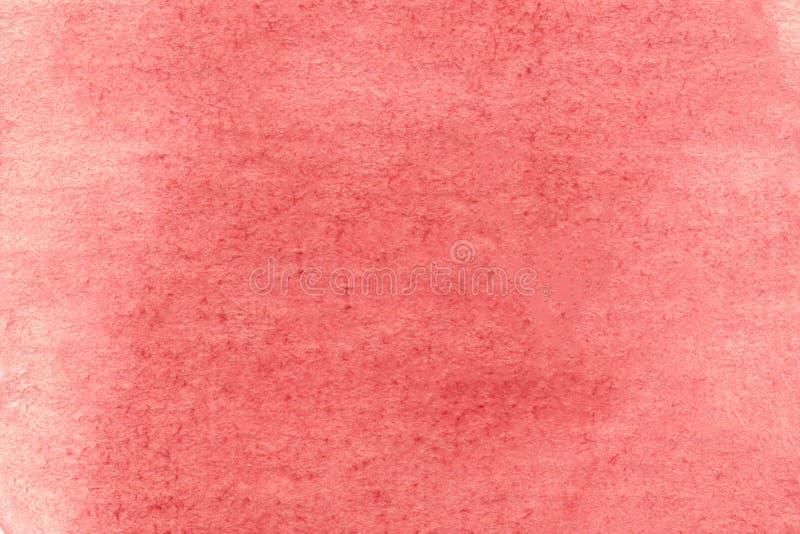 Rood poster met hoge resolutie Abstracte hand geschilderd op papier rode waterkleurstructuur Waterkleurstructuur voor behangpapie stock illustratie