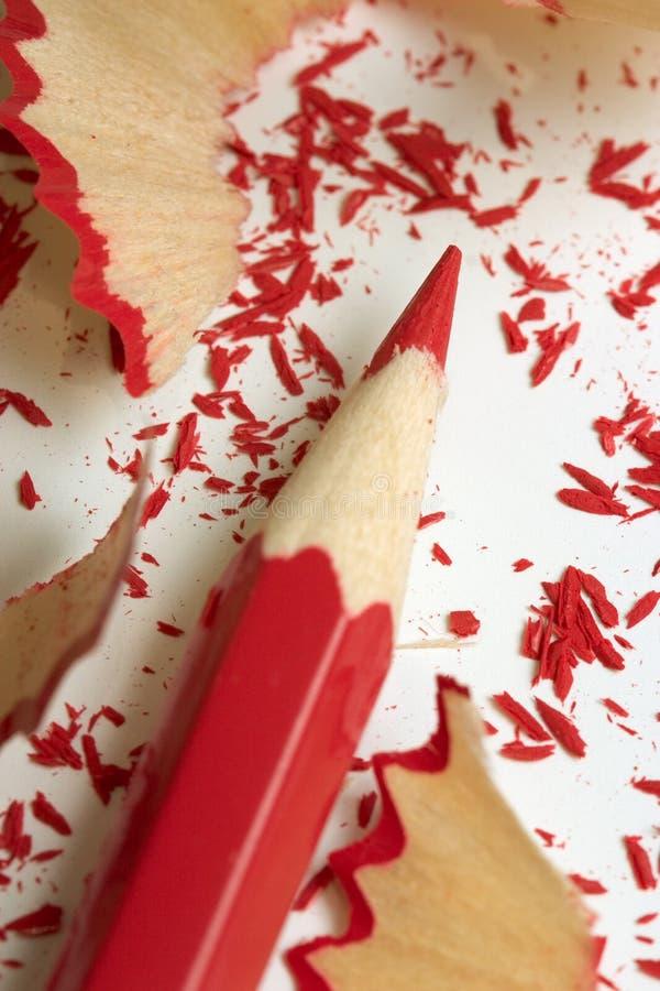 Rood potlood stock afbeeldingen