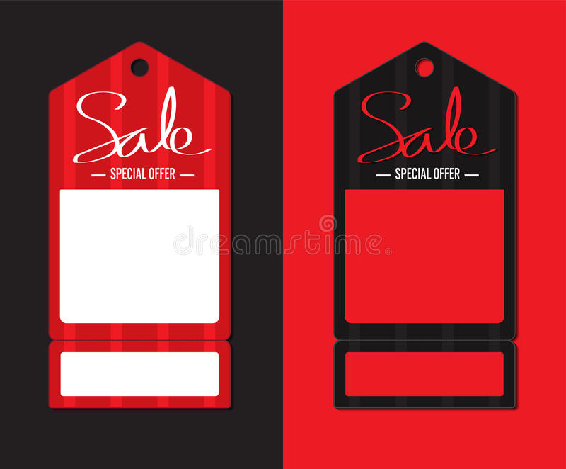 Rood prijskaartje stock illustratie
