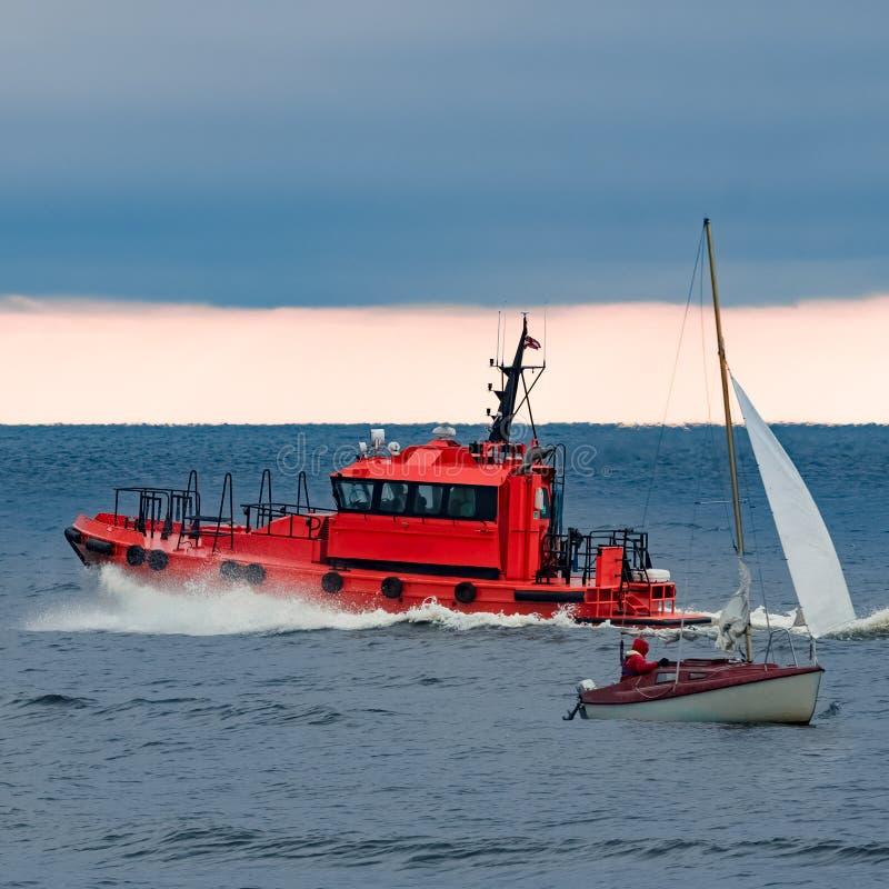 Rood proefschip stock afbeelding