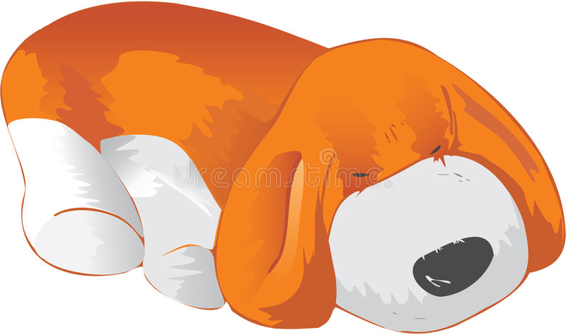 Rood puppy royalty-vrije illustratie
