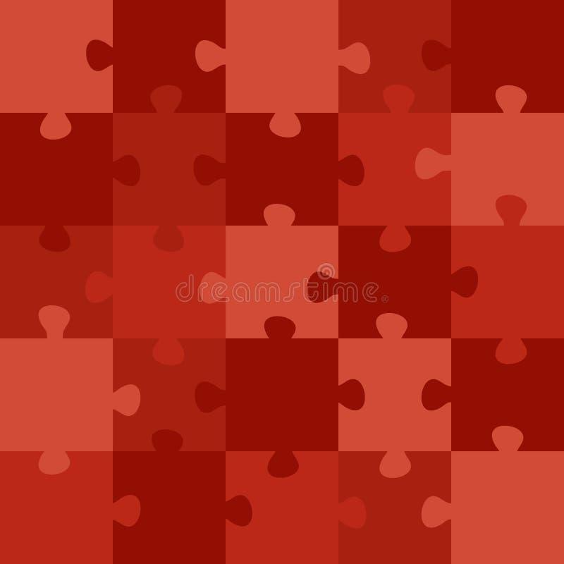 Rood raadsel stock illustratie