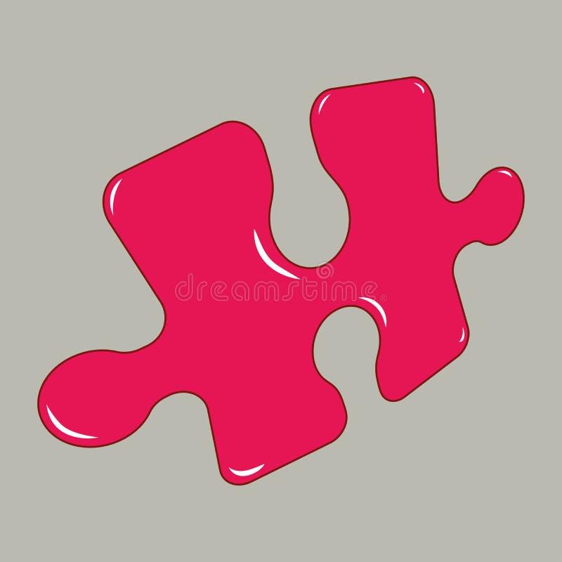 Rood raadsel, met hoogtepunten, grijze achtergrond, illustratie vector illustratie