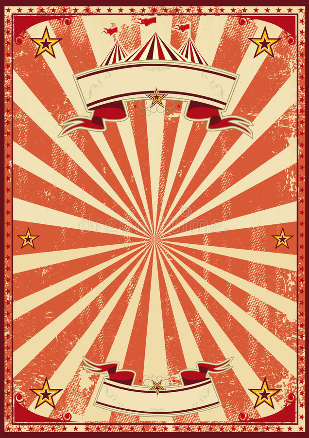Rood retro circus vector illustratie