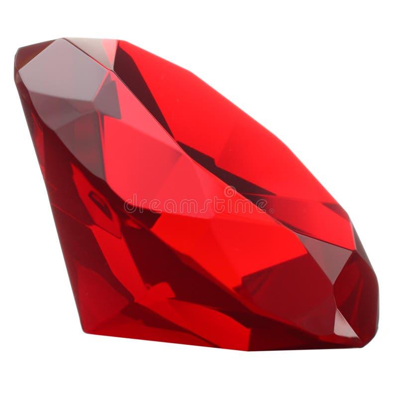 Rood Robijnrood Juweel stock afbeelding