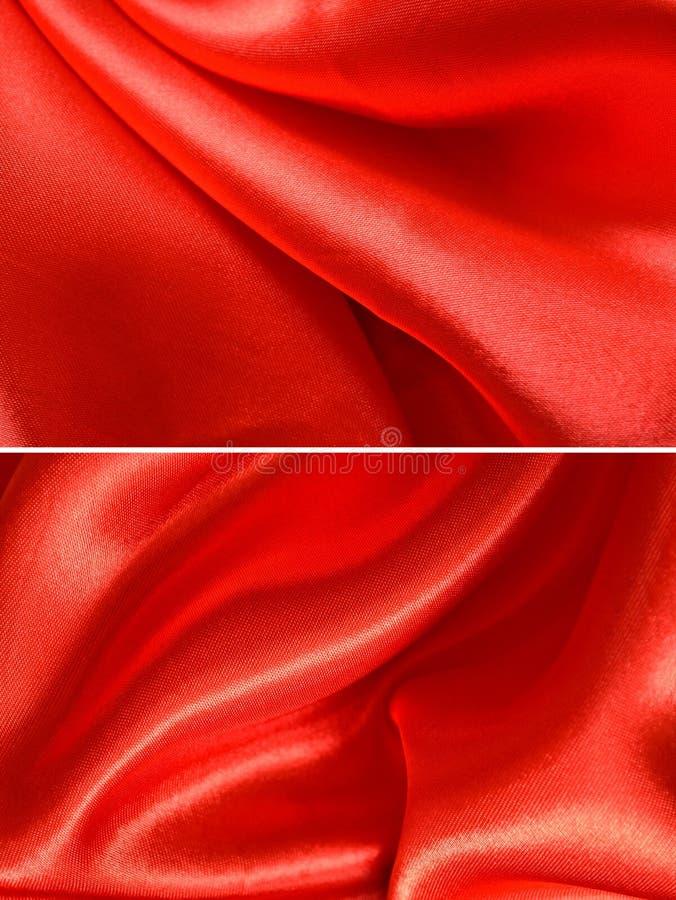 Rood satijn royalty-vrije stock fotografie