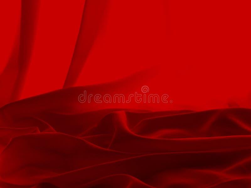 Rood Satijn stock fotografie