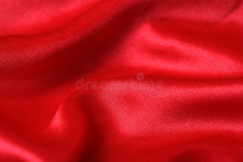 Rood satijn royalty-vrije stock foto's