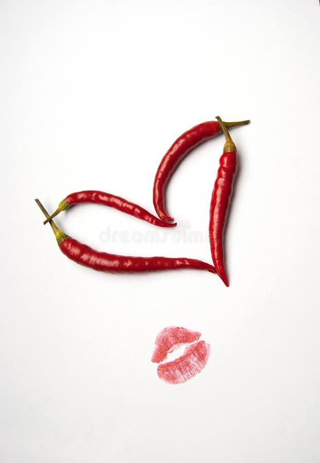 Rood Spaanse pepershart stock afbeeldingen