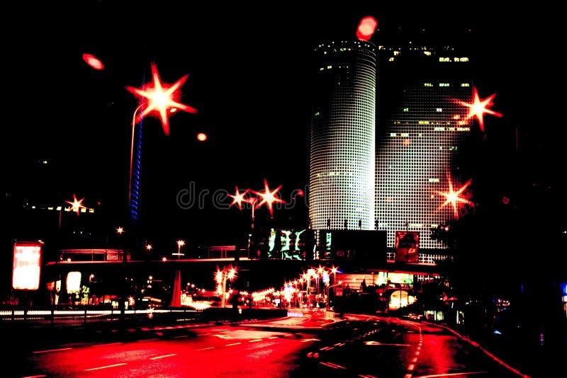 Rood stadslicht stock fotografie