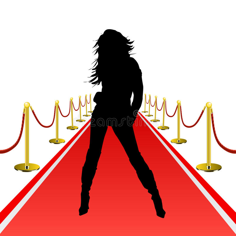 Rood tapijt royalty-vrije illustratie