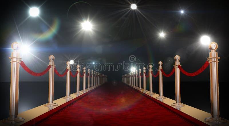 Rood tapijt stock fotografie