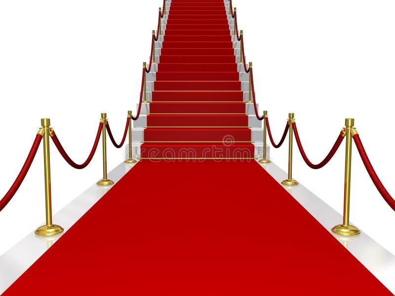 Rood tapijt vector illustratie