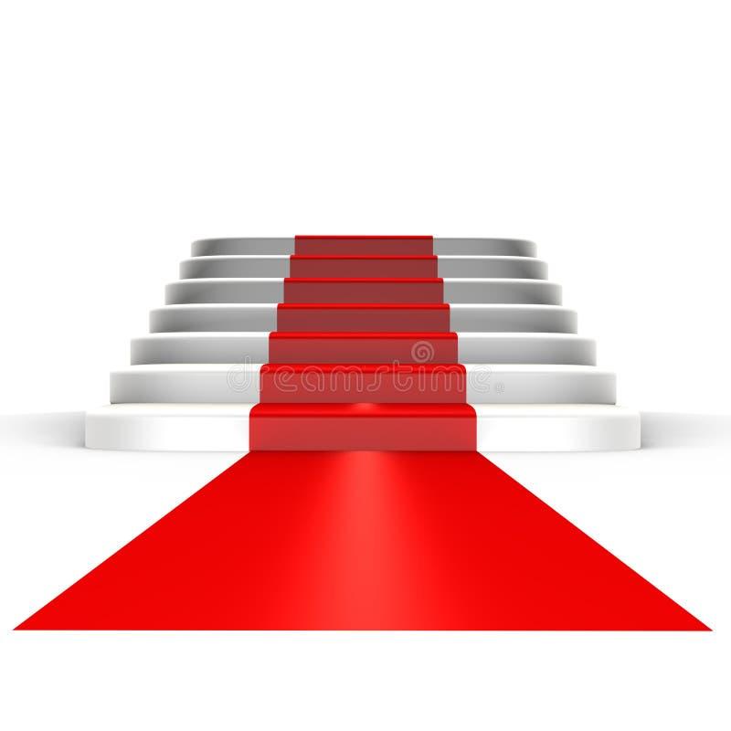 Rood tapijt aan bekendheid - een 3d beeld royalty-vrije illustratie