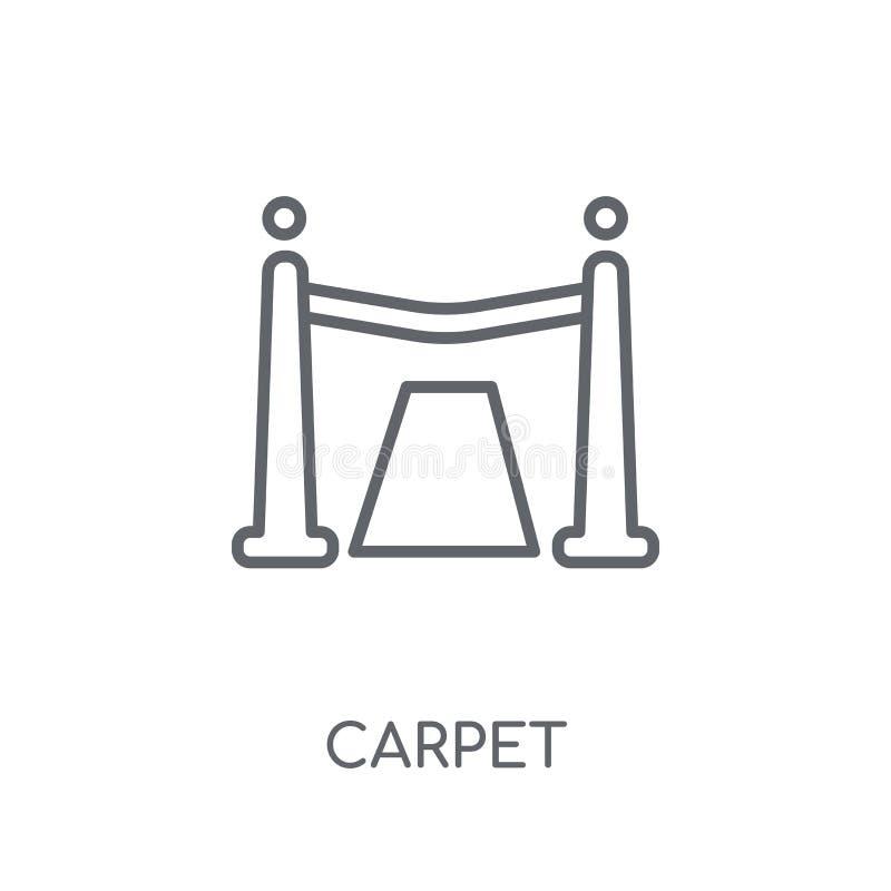 Rood tapijt lineair pictogram Modern het embleemconcept o van het overzichts Rood tapijt stock illustratie