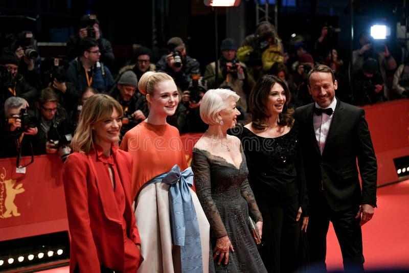 Rood tapijt van 68ste Berlinale-Filmfestival 2018 stock afbeeldingen