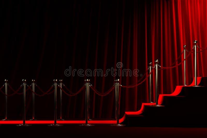Rood tapijt voor succes stock foto's