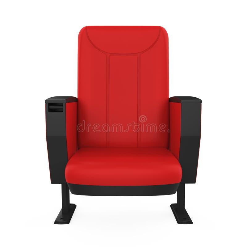 Rood Theater Seat royalty-vrije illustratie