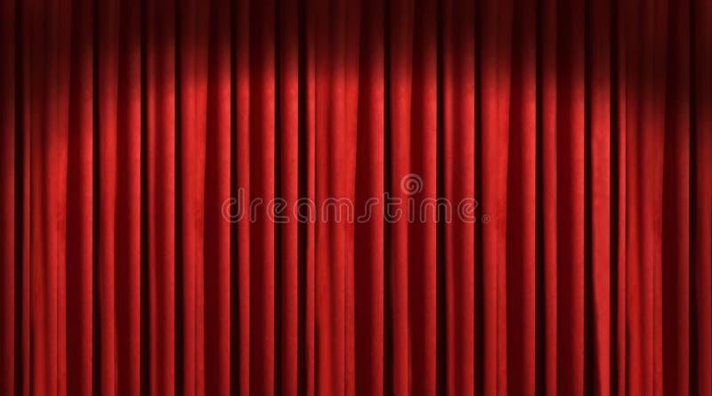 Rood theatergordijn royalty-vrije stock afbeelding