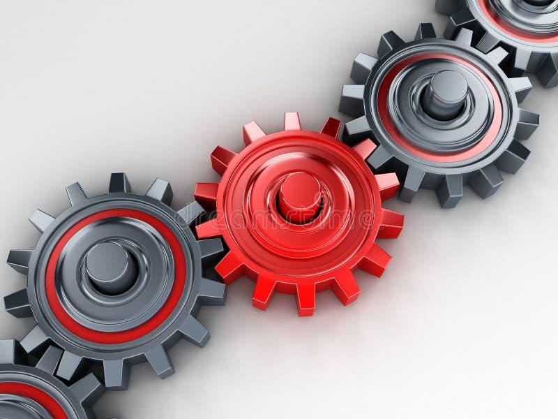 Rood toestel vector illustratie