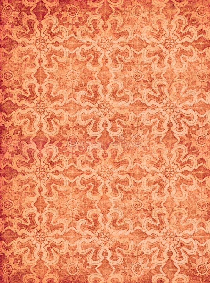 Rood uitstekend behang vector illustratie