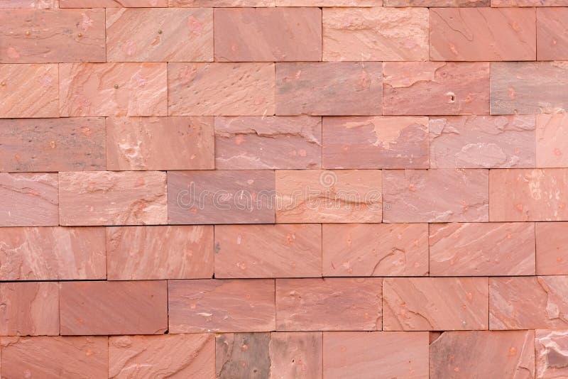 Rood van de baksteentextuur behang als achtergrond De bouw en binnenlands concept royalty-vrije stock foto
