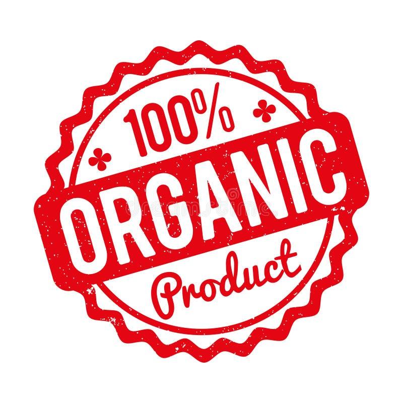 Rood van de biologisch product het rubberzegel op een witte achtergrond royalty-vrije illustratie