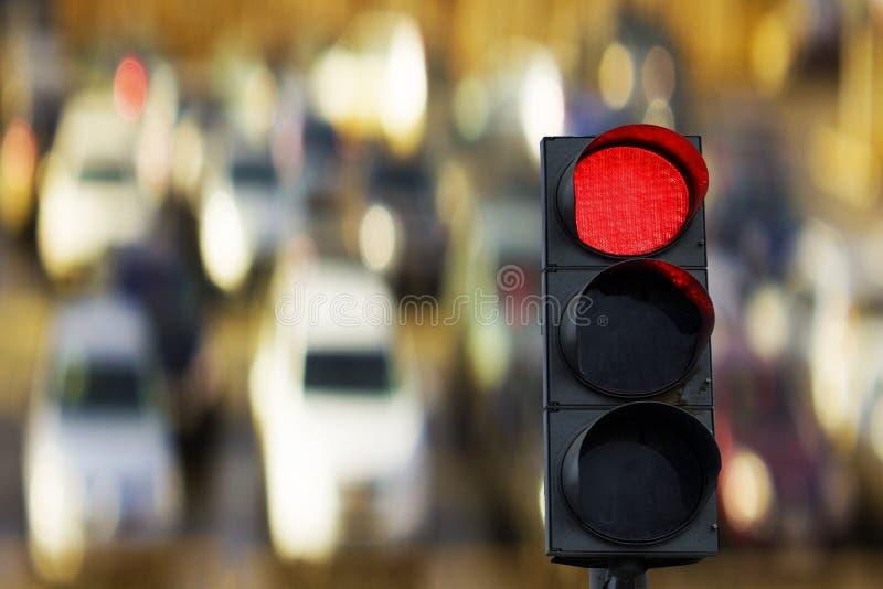 Rood verkeerslicht royalty-vrije stock foto