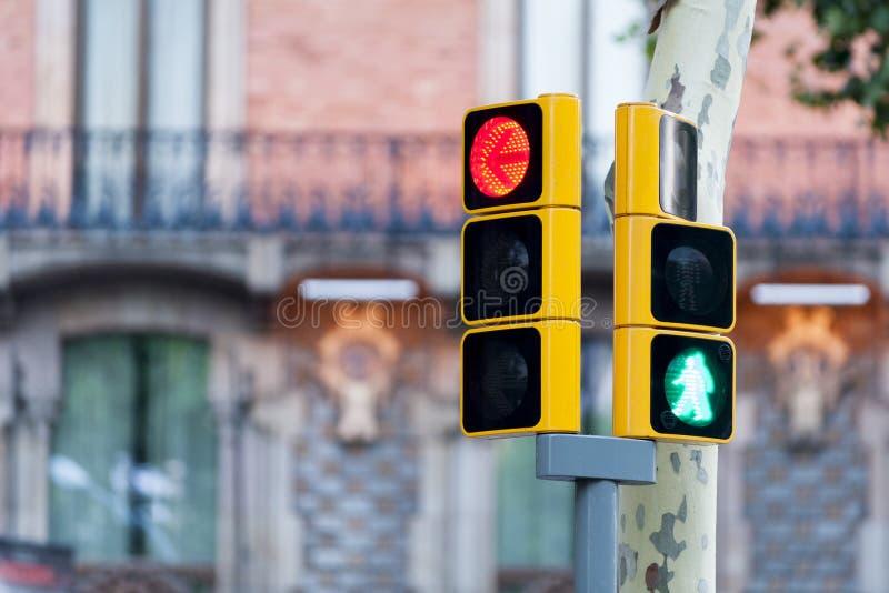 Rood verkeerslicht en groene mens royalty-vrije stock fotografie