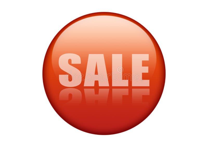 Rood verkooppictogram stock foto's