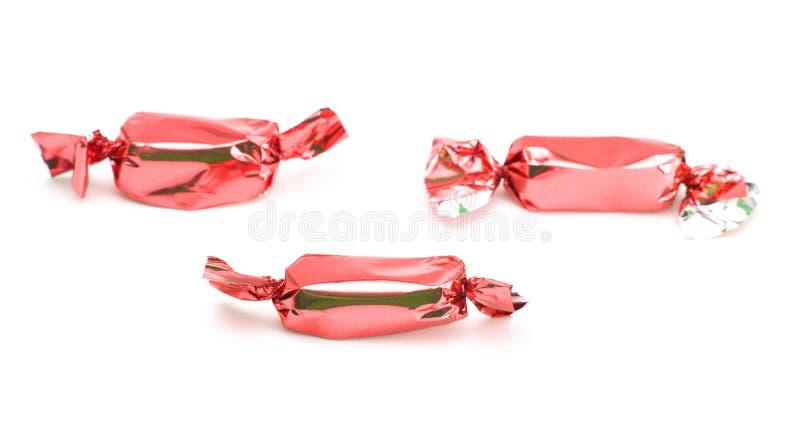 Rood Verpakt Suikergoed royalty-vrije stock afbeelding
