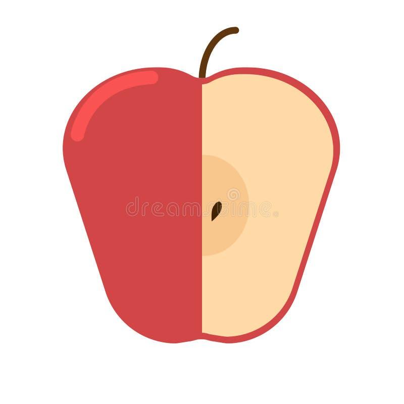 Rood vers appel vlak pictogram, vectorteken royalty-vrije illustratie