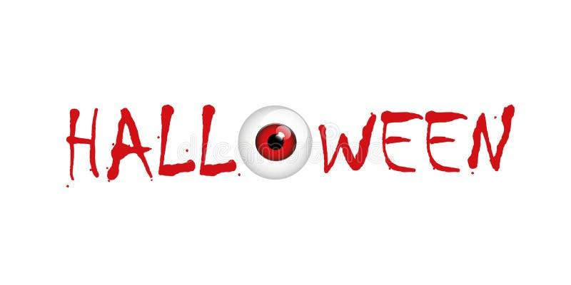 Rood verschrikkingsoog op Halloween vector illustratie