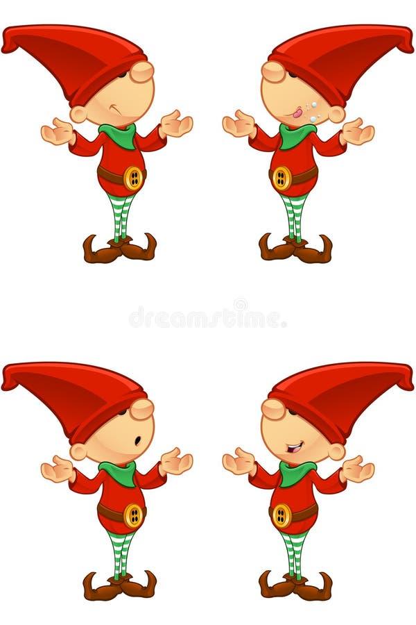 Rood verward Elf - vector illustratie