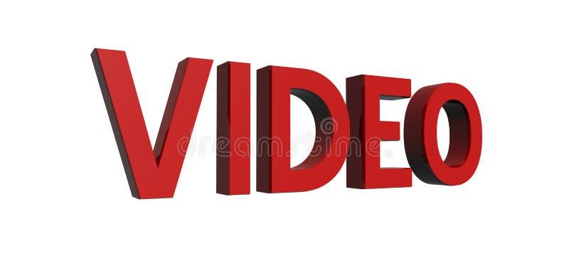 Rood-video royalty-vrije illustratie