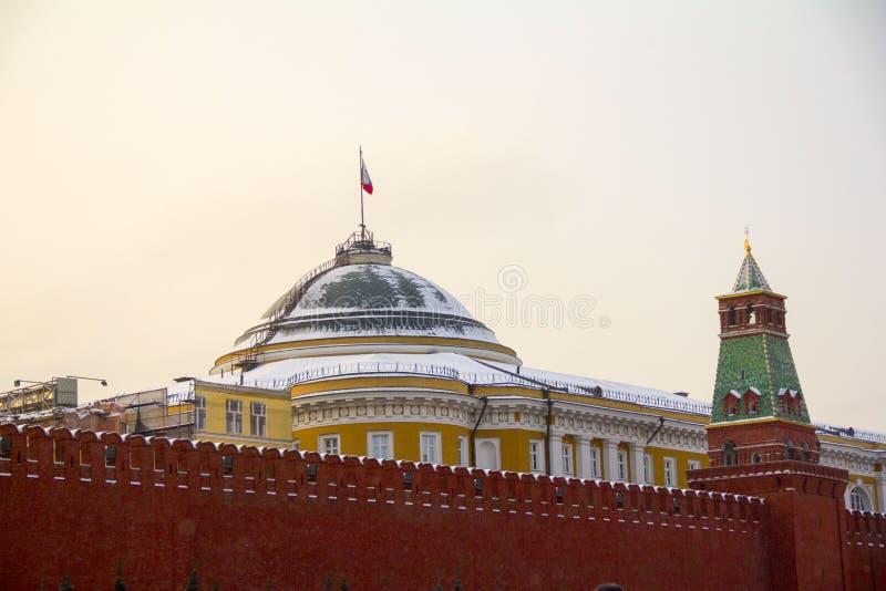 Rood vierkant Het Kremlin moskou stock afbeelding