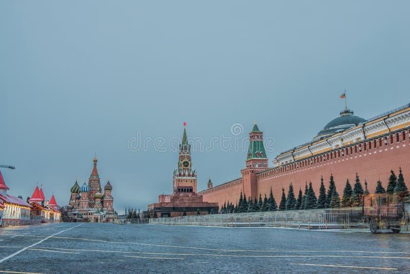 Rood Vierkant, Mausoleum van Lenin in Moskou, Rusland stock afbeeldingen